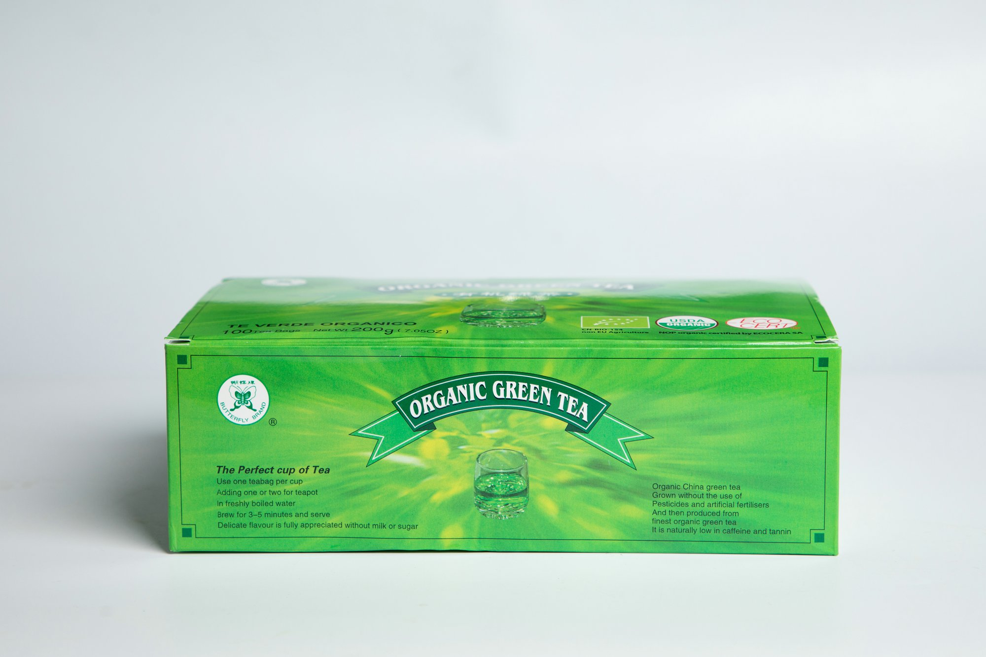 Organic Green Tea Bag #GT708 2GX100BAGS