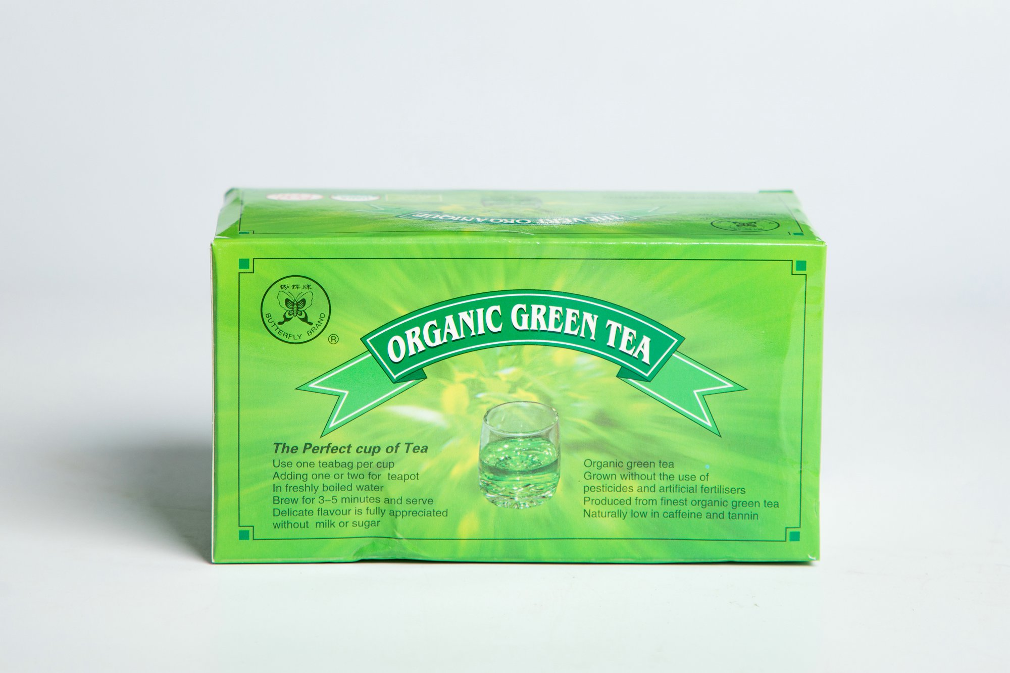 Organic Green Tea Bag #GT707 2GX25BAGS